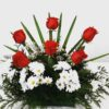 arreglo-floral-margaritas y rosas