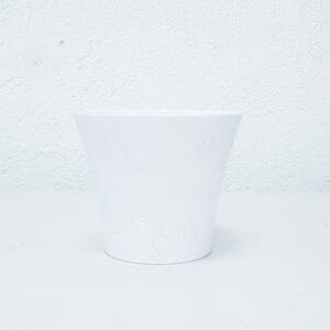macetero blanco